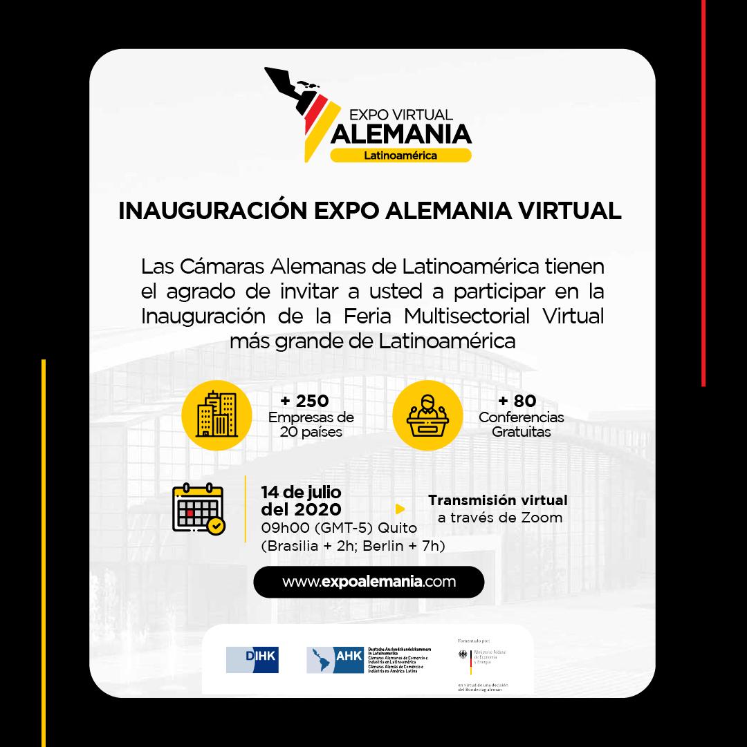 INAUGURACIÓN EXPO VIRTUAL ALEMANIA LATINOAMÉRICA