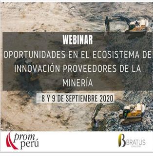 """Webinar: Oportunidades En El Ecosistema De Innovación Proveedores De La Minería En El Marco De La """"Misión Empresarial De Innovación En La Minería»"""